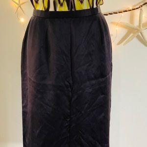 Nice Dana Buchman Luxe Silk Satin Pencil Skirt